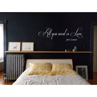 All You Need Is Love Vinyl Wall Art Decal