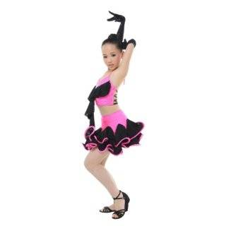 Girls/Ladies Latin dance dress Over all dress in 3 sets Pink Clothing