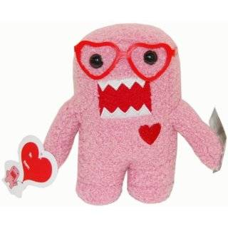 Plush Figure Valentines Day NERD Heart Glasses Domo Pink Toys & Games