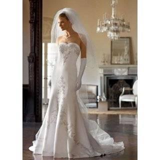 Davids Bridal Wedding Dress Satin mermaid with sweetheart neckline