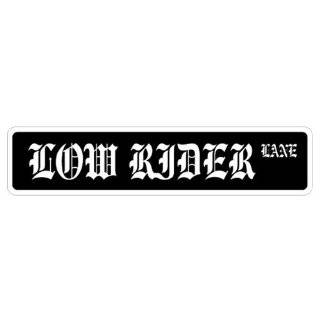 RIDER Street Sign lowrider chrome rims car truck spinners novelty sign