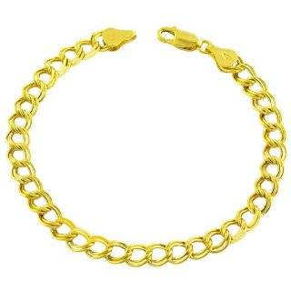 4mm Rolo Heart Charm Bracelet, 14K Yellow Gold Jewelry