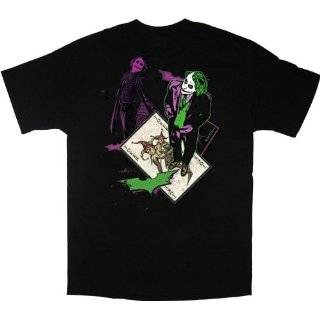 Batman The Dark Knight The Joker Card Black T Shirt Tee