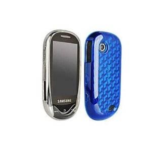 Blue Skull Hard Case Cover for Samsung Sunburst A697 Cell