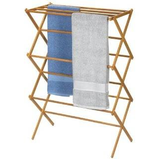 Antique Tri Fold Clothes Drying Rack Herbs Quilt Great