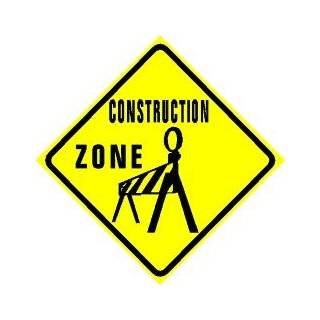MEN WORKING CAUTION road construction sign Home & Kitchen