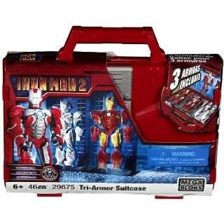 Mega Bloks Ironman 2 Tri Armor Iron Man & Suitcase