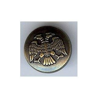 Silver Finish Double headed Eagle Button 5/8 Arts, Crafts & Sewing