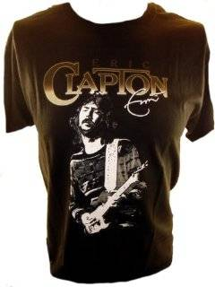 Eric Clapton Mens T Shirt   Silhouette of Clapton Playing