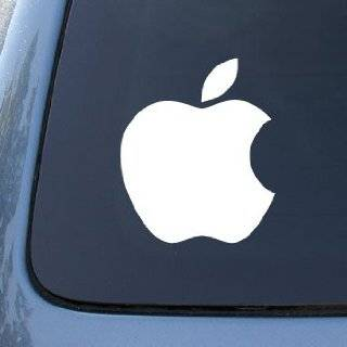 Apple Logo Die Cut Vinyl Decal Sticker 6 White