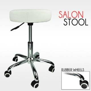Barber White Hydraulic Stool Chair Facial Salon Tattoo Beauty