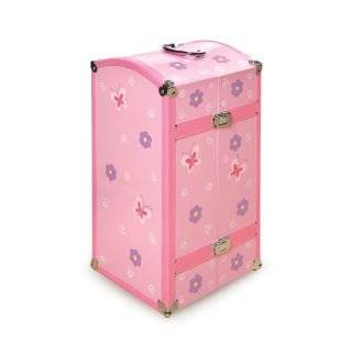 Pink Doll Storage Trunk with Bed for American Girl Dolls Toys & Games