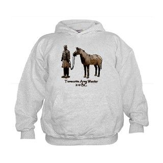 Terracotta Army Warrior Horse Hoodie by dressageart