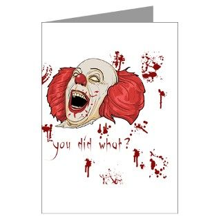 Bloody Gifts > Bloody Greeting Cards > Evil Clown Greeting Card
