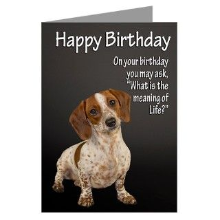 Animals Gifts > Animals Greeting Cards > Funny Dachshund Birthday Card