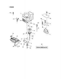 917276013 Craftsman Garden tractor   Chassis and enclosures (68 parts