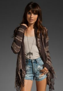 FREE PEOPLE Mixed Yarn Runaway Love Wrap in Driftwood