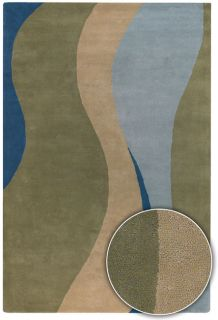 Hand tufted Contemporary Mandara Wool Rug (8 x 11)