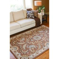 Hand tufted Brown Mava New Zealand Wool Rug (33 x 53)