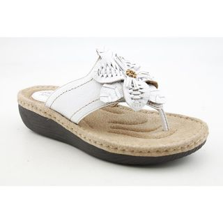 Clarks Artisan Womens Latin Palm White Sandals