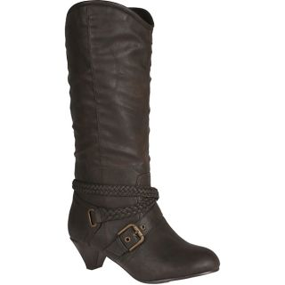 Neway by Beston Womens heley 02 Brown Knee high Cowgirl Boots