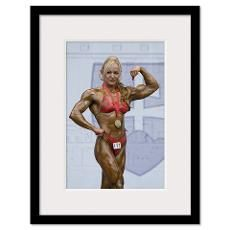 2009 European Womens Bodybuilding & Fitness Champ Framed Print