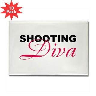Shooting Diva Rectangle Magnet (10 pack)