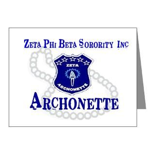 Zeta Phi Beta Thank You Note Cards
