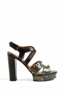 Marc by Marc Jacobs  Dries Camouflage Studded Heeled Sandals by Marc By Marc Jaco