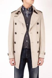 Burberry Brit  Taupe Classic Double Breasted Trench Coat by Burberry Brit