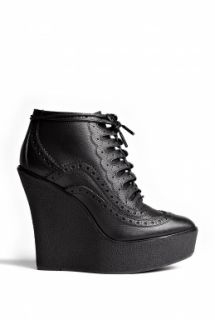Burberry Shoes & Accessories  Brogue Pencombe Wedge Lace Up Ankle Boots by Burberry Shoes & Accessories