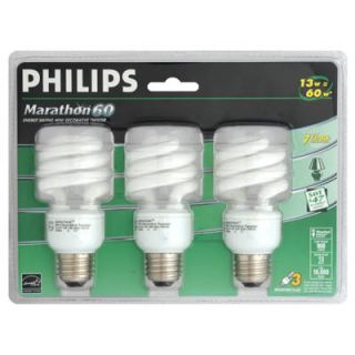 Philips 13W Marathon Energy Saving Mini Decorative Twister Bulb   Pk