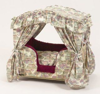 Lazy Paws Designer Canopy Pet Bed   French Country: Pet