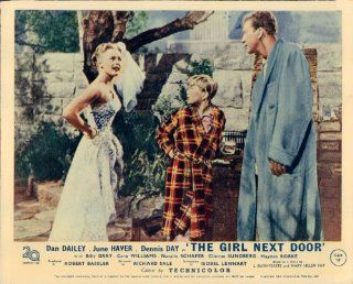 THE GIRL NEXT DOOR JUNE HAVER DAN DAILEY LOBBY CARD