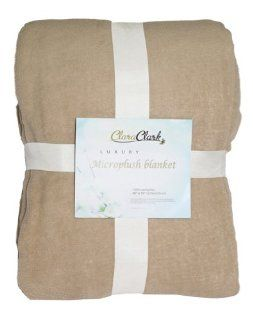 Clara Clark Luxury Microplush Fleece Blanket   Twin Size