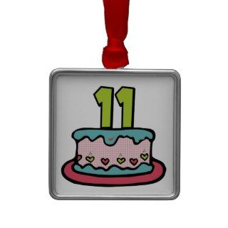 11 Year Old Birthday Cake Ornament