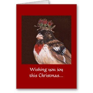 25) Bird Christmas card