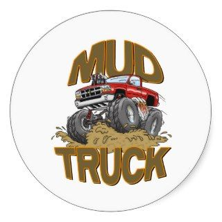 Mud Truck Chevy Stickers