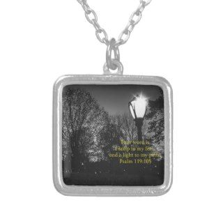 Bible Verse Psalm 119:105 Lamp to my feetPendants