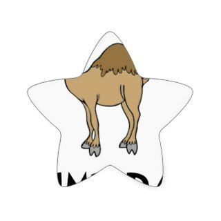 Hump Day Camel Star Stickers