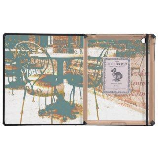 Vintage parisian cafe with french script iPad cover