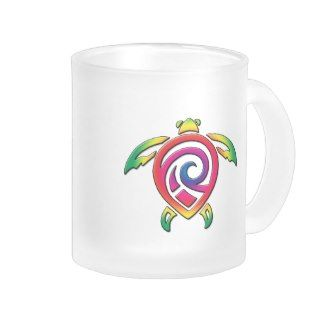 Rainbow Sea Turtle Tattoo Mug
