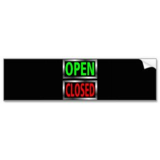 Open Closed Signs Vector Clipart Bumper Stickers