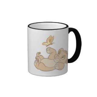 Lion Kings Baby Simba Playing Disney Mug