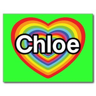 love Chloe: rainbow heart Post Cards