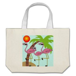 Pink Flamingos and Palm Tree Gifts Tote Bag