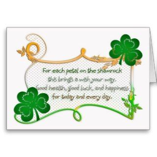 St. Patricks Day Card   Shamrock Celtic Symbols