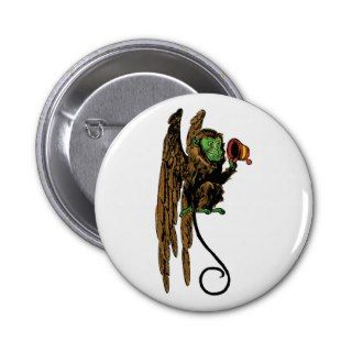 Vintage Wizard of Oz; Evil Flying Monkey Hat Button