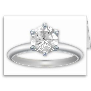 Diamond Ring Bling Clipart Card