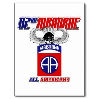 82nd Airborne Jump Wings Post Cards